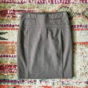 Express 00 Taupe Stretch lines Pencil Skirt
